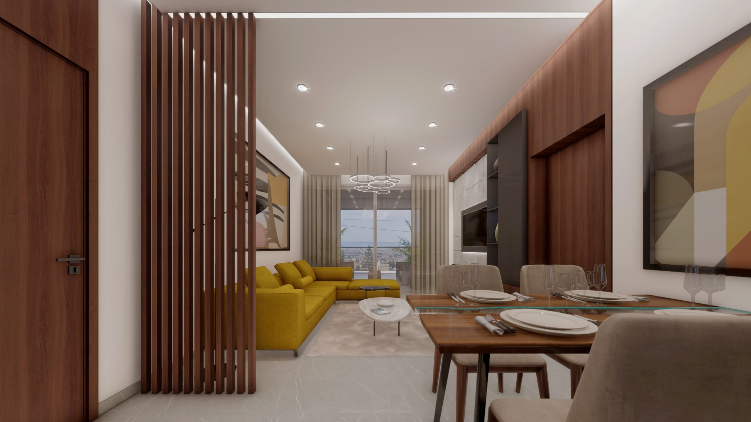 Living Room & Kitchen_1- Living room & Kitchen